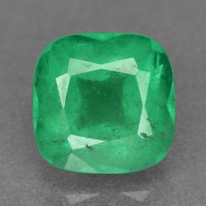 Brilliant Green Emerald Gem - 1.3ct Cushion-Cut (ID: 499367)