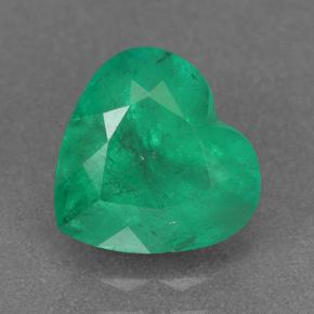 Intense Green Émeraude gemme - 2.1ct Coeur facette (ID: 500377)