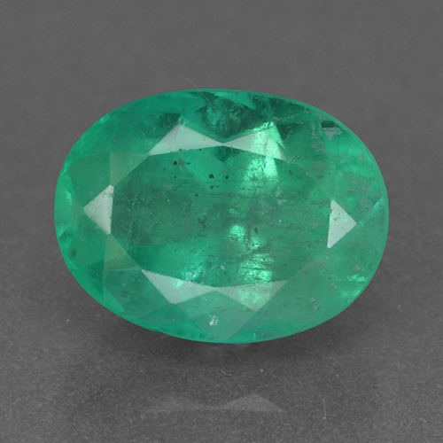 2.3ct Oval Facet Medium Deep Green Emerald Gem (ID: 500380)