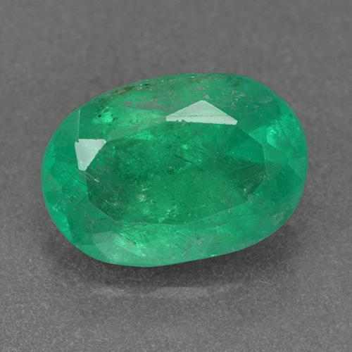 2.1ct Oval Facet Clover Green Emerald Gem (ID: 500383)
