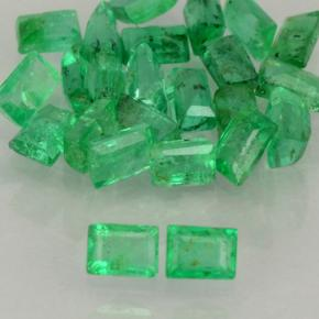 Green Emerald Gem - 0ct Baguette Step Cut (ID: 503007)
