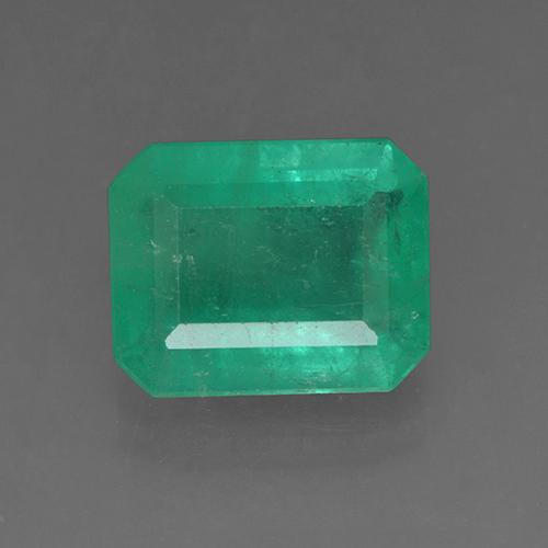3.7ct Octagon Stufenschliff Medium Deep Green Smaragd Edelstein (ID: 503887)