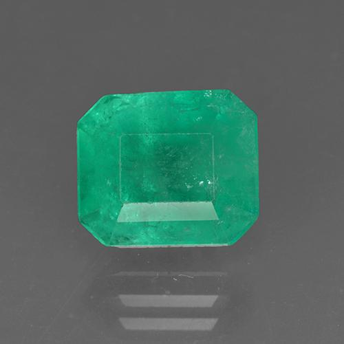 3.2ct Octagon Stufenschliff Medium Deep Green Smaragd Edelstein (ID: 503888)