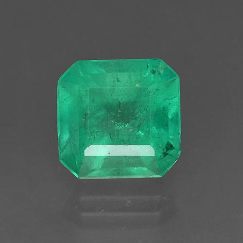 3.4ct Octagon Stufenschliff Medium Green Smaragd Edelstein (ID: 503889)