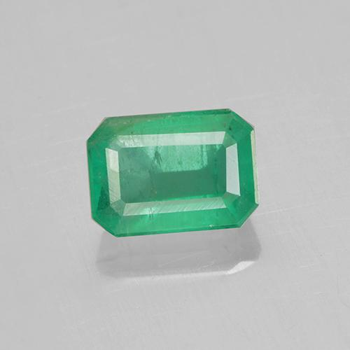 0.8ct Octagon Stufenschliff Medium Green Smaragd Edelstein (ID: 505001)