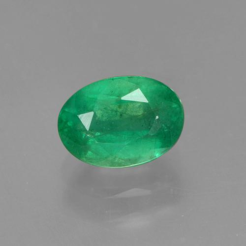 1ct Oval Facet Medium Green Emerald Gem (ID: 505002)
