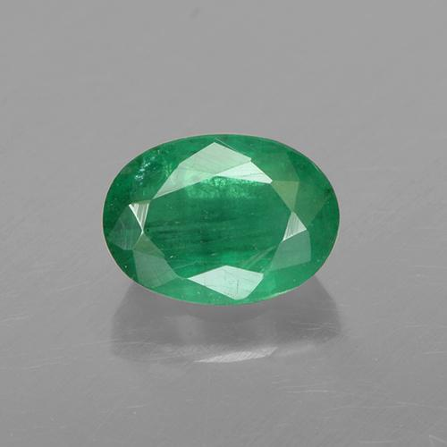 1ct Oval Facet Warm Green Emerald Gem (ID: 505008)
