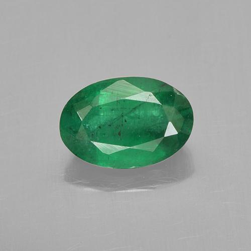 Warm Green Emerald Gem - 0.7ct Oval Facet (ID: 505009)