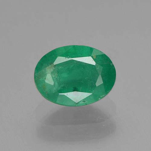 0.9ct Oval Facet Jade Green Emerald Gem (ID: 505010)