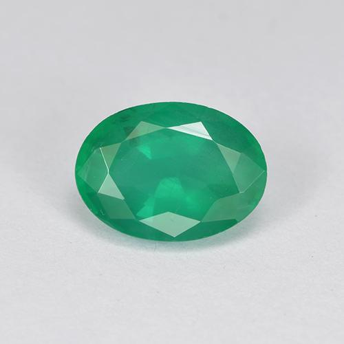 1.2ct Oval Facet Jade Green Emerald Gem (ID: 505020)