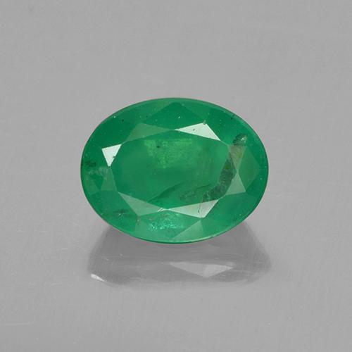 1.4ct Oval Facet Clover Green Emerald Gem (ID: 505024)
