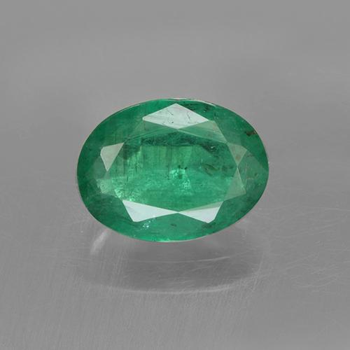 1.1ct Oval Facet Medium Green Emerald Gem (ID: 505025)