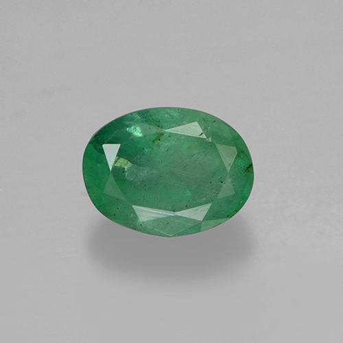 0.6ct Oval Facet Medium light Green Emerald Gem (ID: 506066)