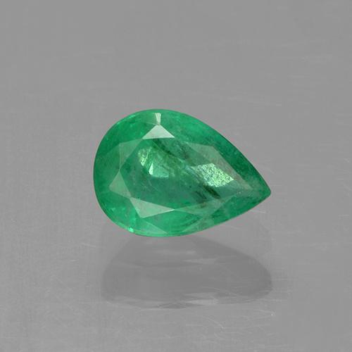 0.7ct Pear Facet Medium Green Emerald Gem (ID: 506188)
