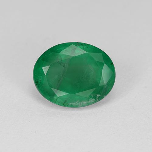 1.7ct Oval Facet Medium Green Emerald Gem (ID: 509233)