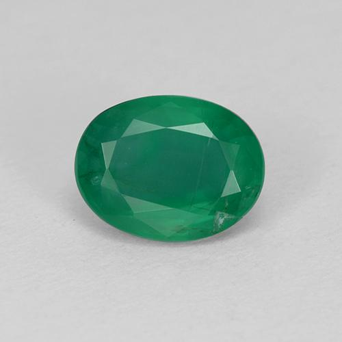 1.4ct Oval Facet Warm Green Emerald Gem (ID: 509235)
