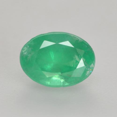 0.6ct Oval Facet Bright Green Emerald Gem (ID: 535841)