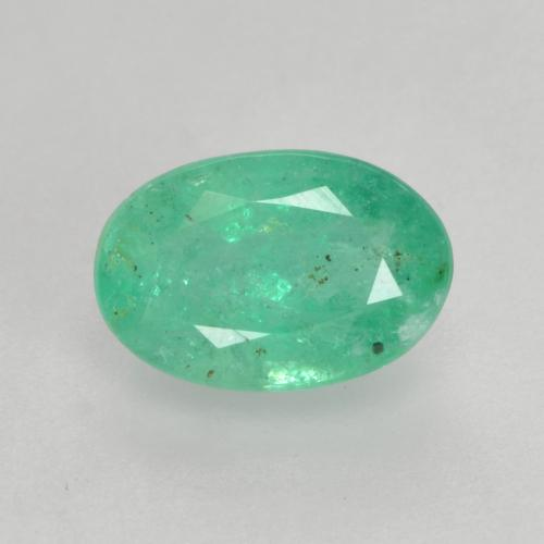 0.5ct Oval Facet Intense Green Emerald Gem (ID: 535849)