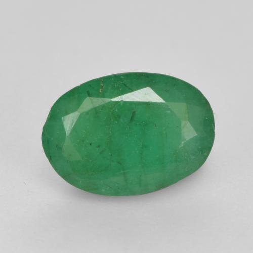 0.5ct Oval Facet Warm Green Emerald Gem (ID: 535852)