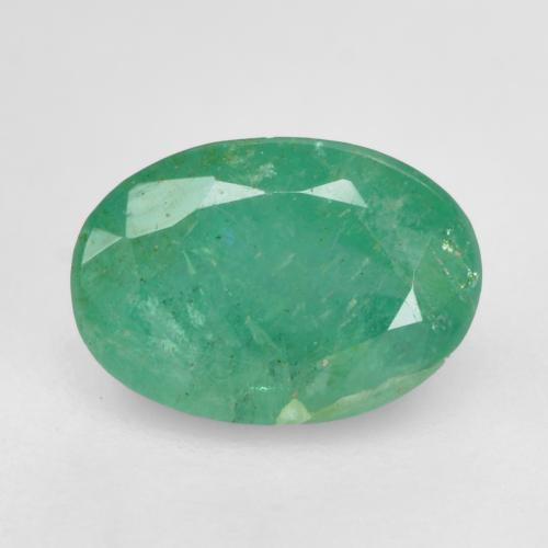 0.7ct Oval Facet Medium Green Emerald Gem (ID: 535853)
