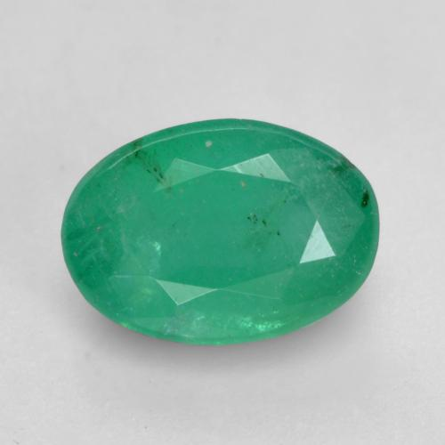 0.7ct Oval Facet Medium Green Emerald Gem (ID: 535854)