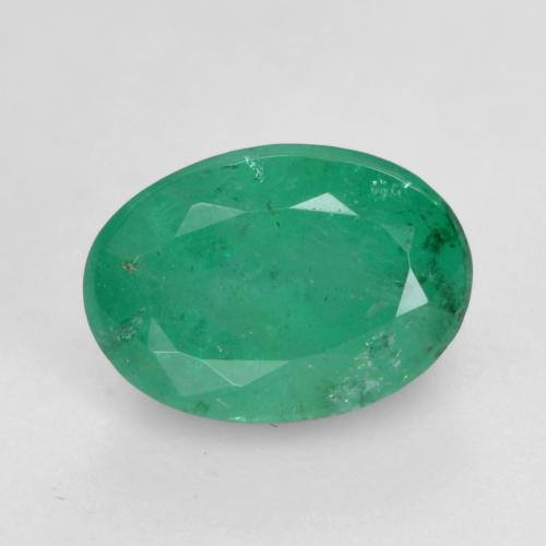 0.7ct Oval Facet Electric Green Emerald Gem (ID: 535855)