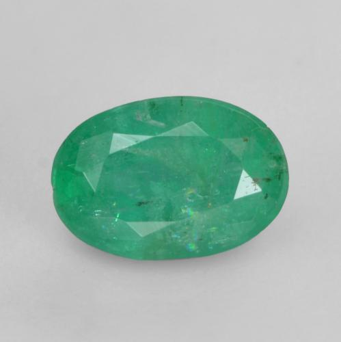 0.6ct Oval Facet Medium Deep Green Emerald Gem (ID: 535856)