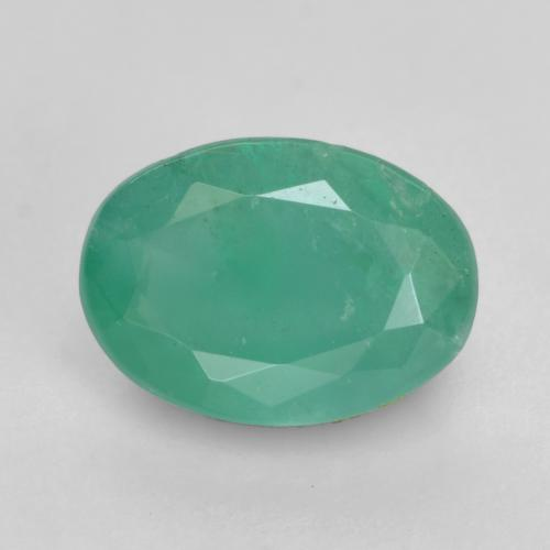 0.6ct Oval Facet Light Emerald Green Emerald Gem (ID: 535859)