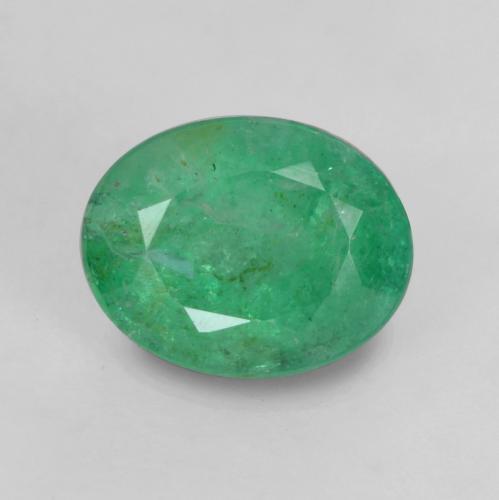 0.7ct Oval Facet Medium Green Emerald Gem (ID: 535862)