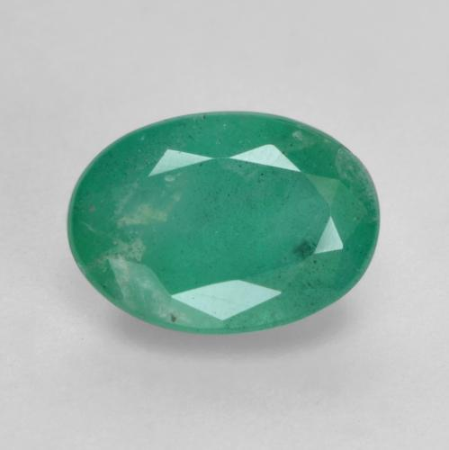0.7ct Oval Facet Cool Green Emerald Gem (ID: 535863)