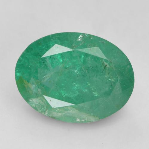 1.2ct Oval Facet Bluish Green Emerald Gem (ID: 535922)