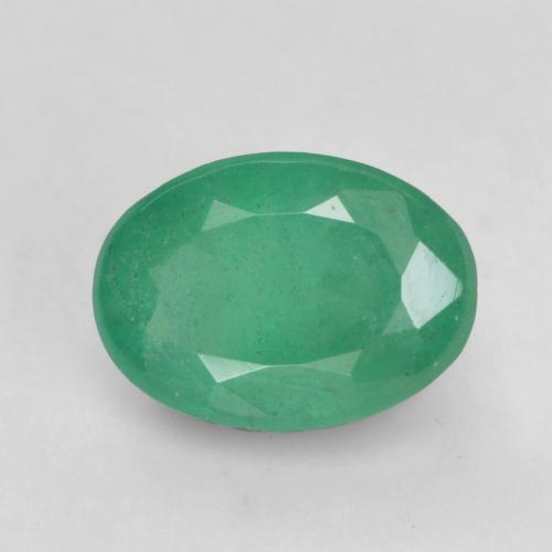 0.6ct Oval Facet Medium Deep Green Emerald Gem (ID: 535923)
