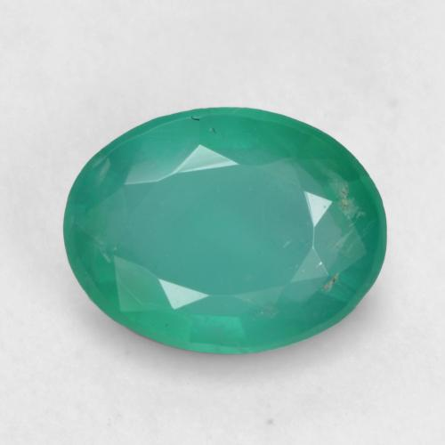 0.8ct Oval Facet Cool Green Emerald Gem (ID: 535926)
