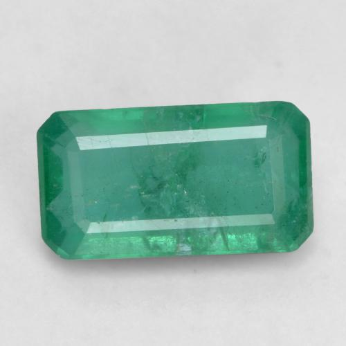 1.2ct Octagon Facet Cool Green Emerald Gem (ID: 535930)