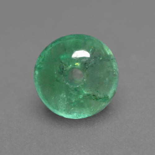 Pistachio Green Изумруд Камень - 0.5ct Round Drilled Rondelle (ID: 535976)