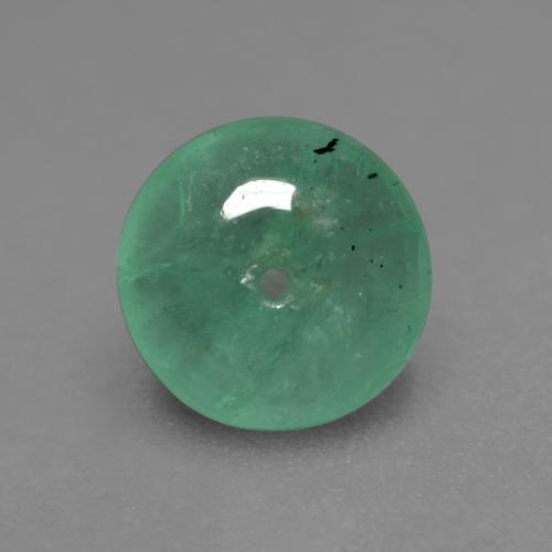 Medium light Green Emerald Gem - 0.6ct Round Drilled Rondelle (ID: 535977)