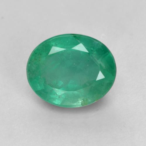0.8ct Oval Facet Medium Deep Green Emerald Gem (ID: 536024)