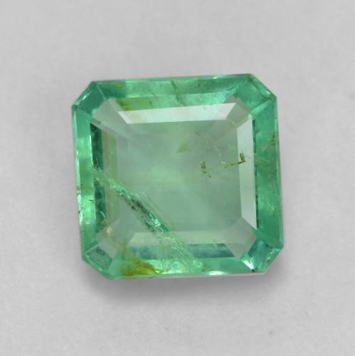 1ct Octagon Facet Jade Green Emerald Gem (ID: 536026)