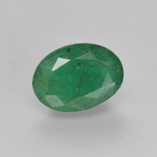 0.7ct Oval Facet Medium light Green Emerald Gem (ID: 536027)