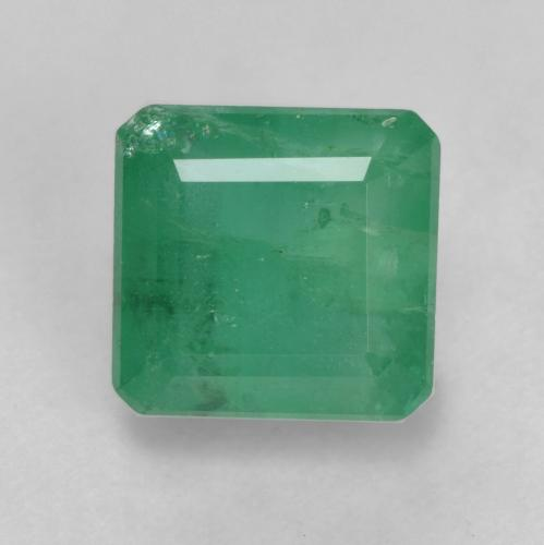 1.6ct Octagon Facet Deep Green Emerald Gem (ID: 536029)