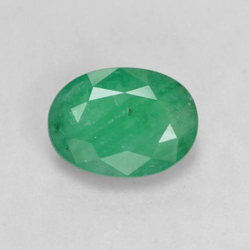 0.8ct Oval Facet Medium Deep Green Emerald Gem (ID: 536030)
