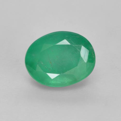 0.7ct Oval Facet Forest Green Emerald Gem (ID: 536031)