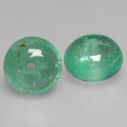 Cool Green Изумруд Камень - 0.5ct Round Drilled Rondelle (ID: 536691)