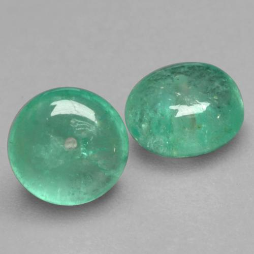 Cool Green Изумруд Камень - 0.9ct Round Drilled Rondelle (ID: 536692)