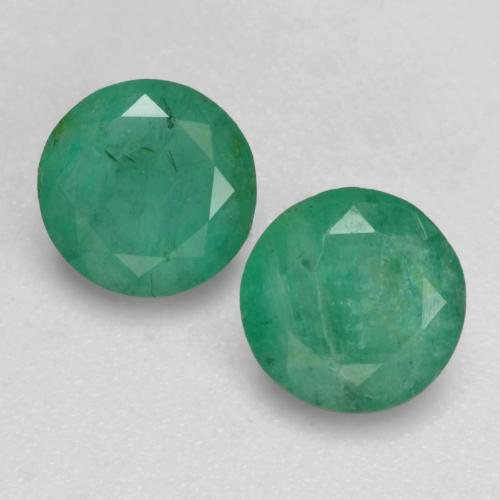 Cool Green Emerald Gem - 0.6ct Round Facet (ID: 536695)