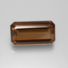 Pecan Brown Enstatit Edelstein - 6.5ct Oktagon facettiert (ID: 384221)