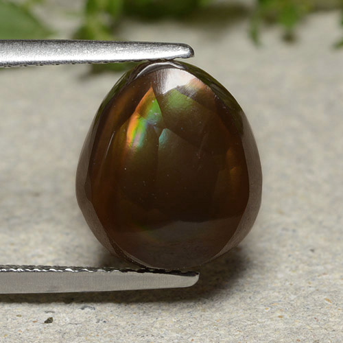 Multicolor Fire Agate Gem - 4.6ct Fancy Cabochon (ID: 486639)