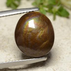 Multicolor Fire Agate Gem - 7.5ct Oval Cabochon (ID: 486716)