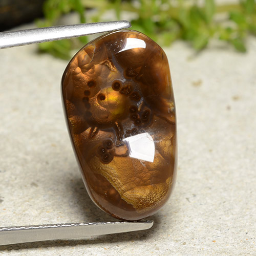 Multicolor Fire Agate Gem - 7.5ct Fancy Cabochon (ID: 486971)
