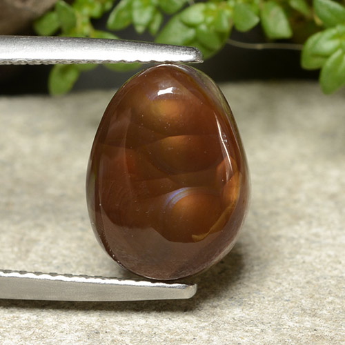 Multicolor Fire Agate Gem - 4.5ct Fancy Cabochon (ID: 488065)